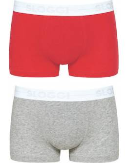 Sloggi Boxer 10198092-M005 2Pack Grey / Red (Γκρί - Κόκκινο)