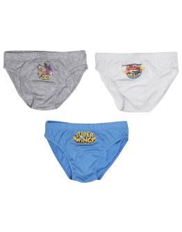 SUPER WINGS -Παιδικά εσώρουχα σλιπ 3 τμχ Αγόρι 100% Cotton Multicolor